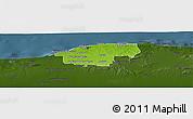 Physical Panoramic Map of Ciudad de la Habana, darken