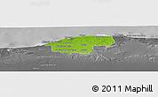 Physical Panoramic Map of Ciudad de la Habana, desaturated