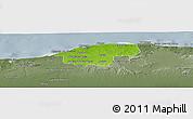Physical Panoramic Map of Ciudad de la Habana, semi-desaturated