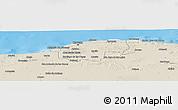 Shaded Relief Panoramic Map of Ciudad de la Habana