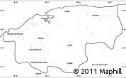 Blank Simple Map of Ciudad de la Habana