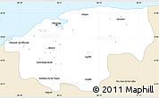 Classic Style Simple Map of Ciudad de la Habana