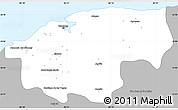 Gray Simple Map of Ciudad de la Habana
