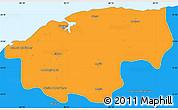 Political Simple Map of Ciudad de la Habana