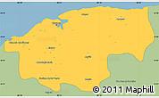 Savanna Style Simple Map of Ciudad de la Habana