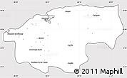 Silver Style Simple Map of Ciudad de la Habana, cropped outside