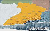 Political 3D Map of Granma, semi-desaturated
