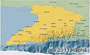 Savanna Style 3D Map of Granma