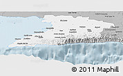 Gray Panoramic Map of Granma