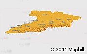 Political Panoramic Map of Granma, cropped outside