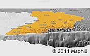 Political Panoramic Map of Granma, desaturated