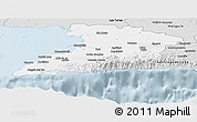 Silver Style Panoramic Map of Granma