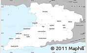 Gray Simple Map of Granma