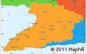 Political Simple Map of Granma