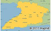 Savanna Style Simple Map of Granma