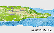 Physical Panoramic Map of Guantanamo
