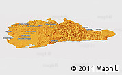 Political Panoramic Map of Guantanamo, cropped outside