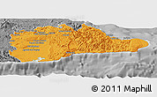 Political Panoramic Map of Guantanamo, desaturated