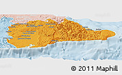 Political Panoramic Map of Guantanamo, lighten