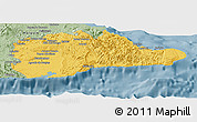 Savanna Style Panoramic Map of Guantanamo