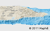Shaded Relief Panoramic Map of Guantanamo
