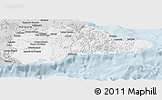 Silver Style Panoramic Map of Guantanamo