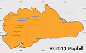 Political Simple Map of Guantanamo, cropped outside