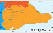 Political Simple Map of Guantanamo