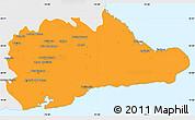 Political Simple Map of Guantanamo, single color outside
