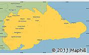 Savanna Style Simple Map of Guantanamo