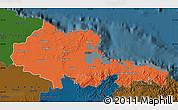 Political Map of Holguin, darken