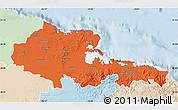 Political Map of Holguin, lighten