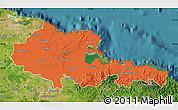 Political Map of Holguin, satellite outside