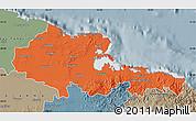 Political Map of Holguin, semi-desaturated