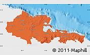 Political Map of Holguin, single color outside