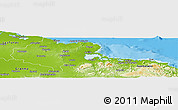Physical Panoramic Map of Holguin