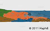 Political Panoramic Map of Holguin, darken