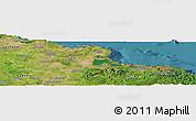 Satellite Panoramic Map of Holguin