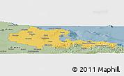 Savanna Style Panoramic Map of Holguin