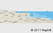 Shaded Relief Panoramic Map of Holguin