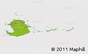 Physical 3D Map of Isla de la Juventud, cropped outside