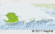 Physical 3D Map of Isla de la Juventud, lighten