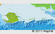 Physical 3D Map of Isla de la Juventud, political outside