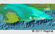 Physical 3D Map of Isla de la Juventud, satellite outside
