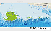 Physical 3D Map of Isla de la Juventud, shaded relief outside
