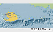 Savanna Style 3D Map of Isla de la Juventud, single color outside