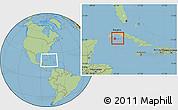 Savanna Style Location Map of Isla de la Juventud, within the entire country