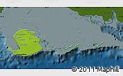 Physical Map of Isla de la Juventud, darken