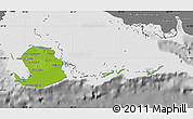 Physical Map of Isla de la Juventud, desaturated
