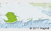 Physical Map of Isla de la Juventud, lighten